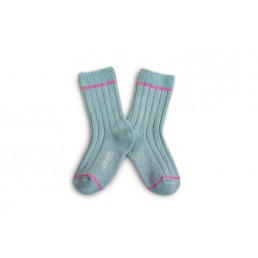 Collégien Lurex Socks Blue Mineral