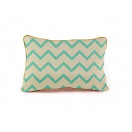 Nobodinoz Cushion Jack zigzag green