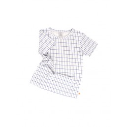 Tinycottons grid shortsleeve tee off-white