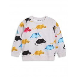 Mini Rodini MR MOUSE SWEATSHIRT Light Grey