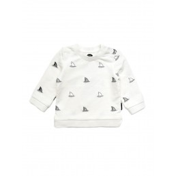 Sproet & Sprout Sweater Embroidery Shark allover