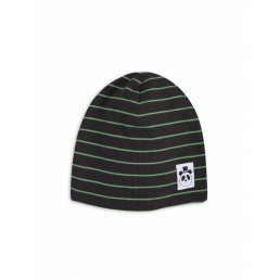 Mini Rodini STRIPE RIB BEANIE black