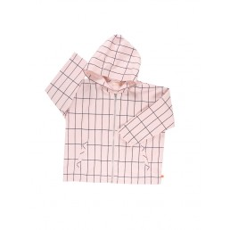 Tinycottons big grid oversized woven jacket pink