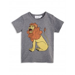 Mini Rodini LION SP Shortsleeve Tee Grey