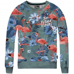 The Future is Ours Flamingo Sweater Dark Multi