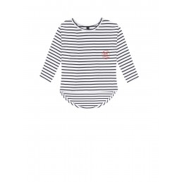 Little 10 Days Oversized Tee Thick Stripe W/Black
