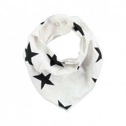 Molo Nick Bib Black star print