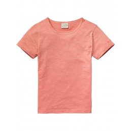 Scotch Shrunk Basic washed T-shirt  Desert Rose