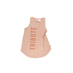 Tinycottons TRIBUTE woven tank dress nude