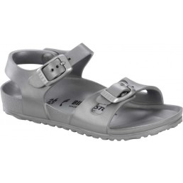 Birkenstock Rio Eva Kids Metallic Silver Narrow