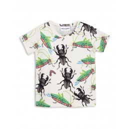 Mini Rodini INSECTS Short Sleeve TEE Off White