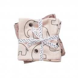 Done by Deer Burp cloth, 2-pack, Contour, powder