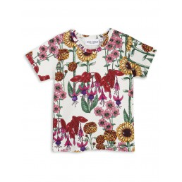 Mini Rodini GARDEN SS TEE Off White