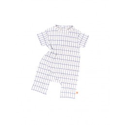 Tinycottons grid short onepiece off-white