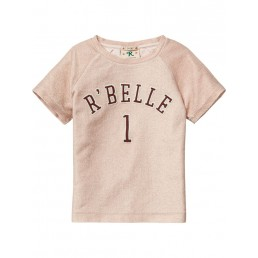 Scotch R'Belle Short sleeve sweat with metallic