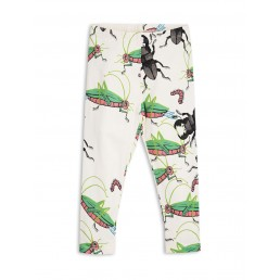 Mini Rodini INSECTS LEGGINGS Off White