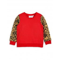 Mini Rodini LEOPARD SWEATSHIRT Red