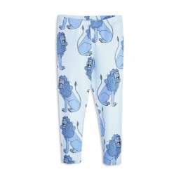 Mini Rodini LION LEGGINGS Light Blue