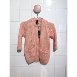 Little 10 Days Solid Cardigan Lucky Pink