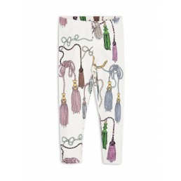 Mini Rodini TASSELS LEGGINGS off white