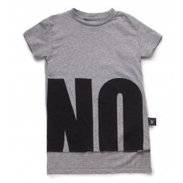 Nununu NO! T-Shirt (2 LENGTHS)   Heather Grey