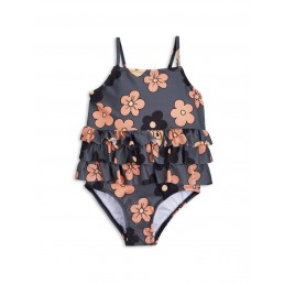 Mini Rodini FLOWER FRILL SWIMSUIT Grey