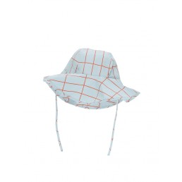 Tinycottons Grid Sun Hat Light Blue