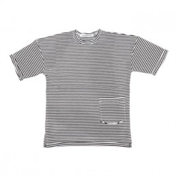 Mingo T-shirt Black-White stripes