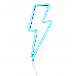 A Little Lovely Company Neon style light: Lightning bolt – blue