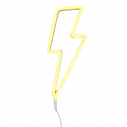 A Little Lovely Company Neon style light: Lightning bolt – yellow