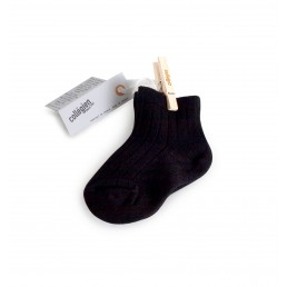 Collégien Ankle Socks Black Noir de Charbon