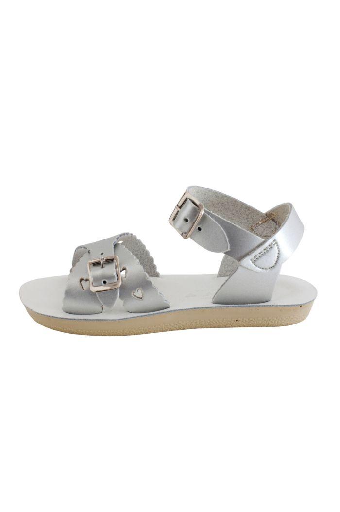 Salt-Water Sandals Sweetheart Silver