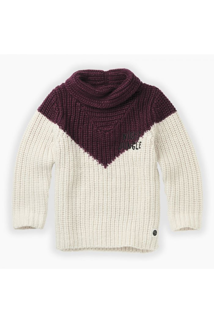 Sproet & Sprout Sweater colourblock Burgundy