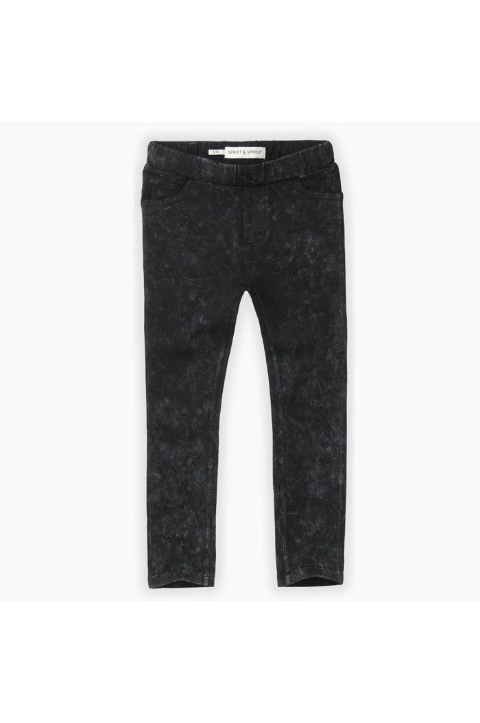 Sproet & Sprout Jersey denim legging Washed Black_1