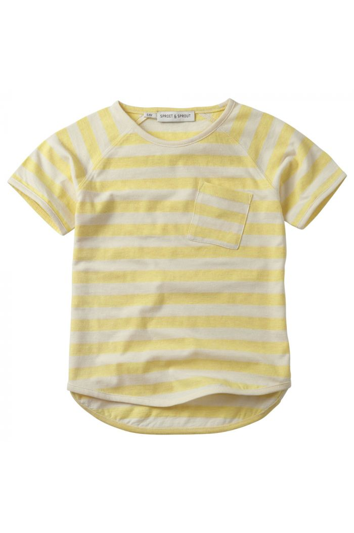 Sproet & Sprout T-shirt raglan Stripe Mellow yellow