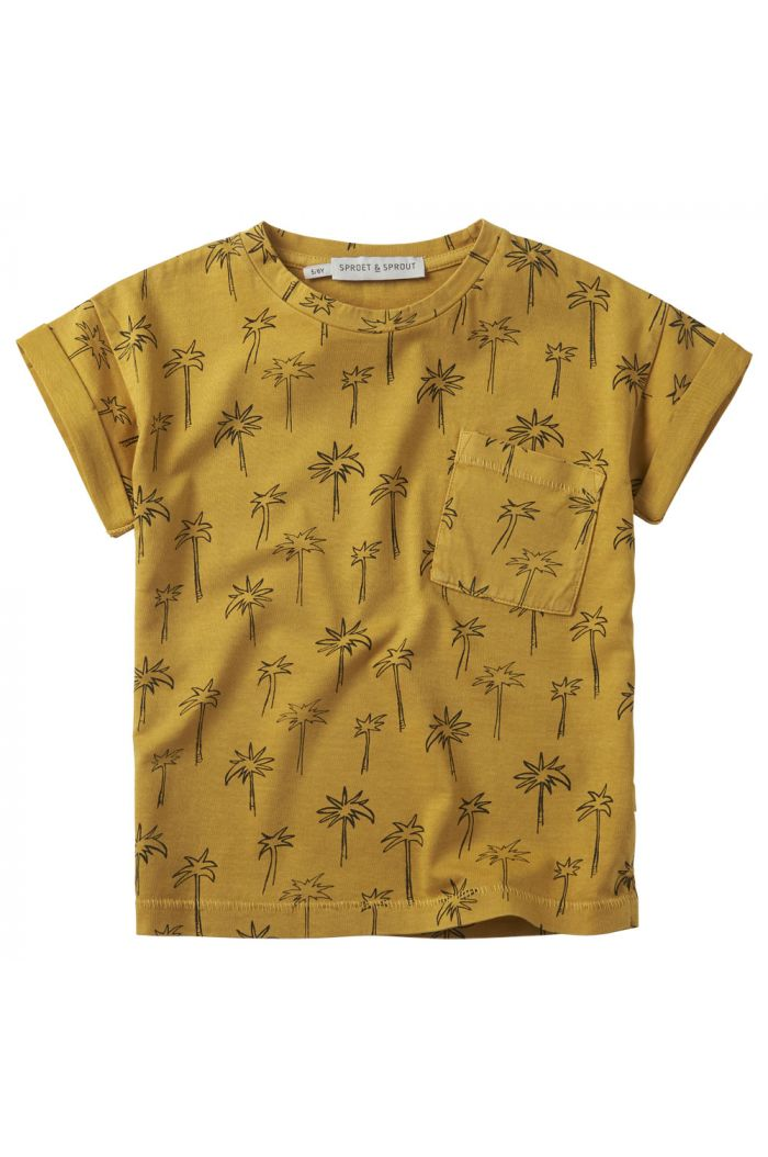 Sproet & Sprout T-shirt print Palm Tree Curcuma