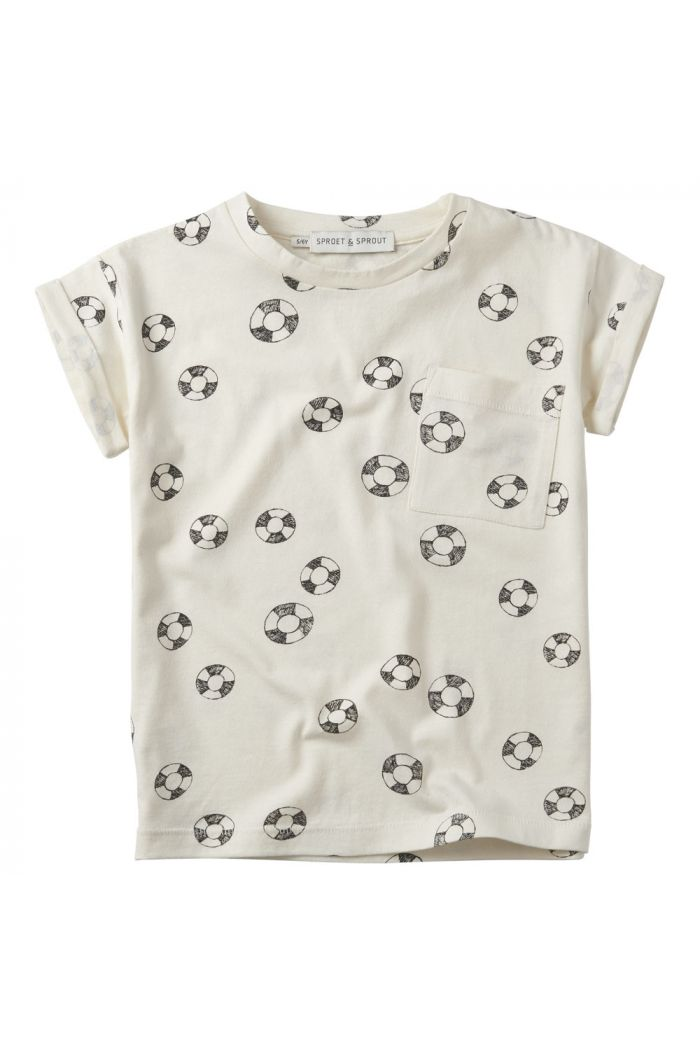 Sproet & Sprout T-shirt print Lifebuoy summer white