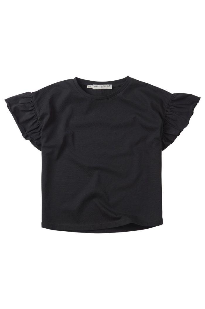 Sproet & Sprout T-shirt Ruffle Black asphalt_1