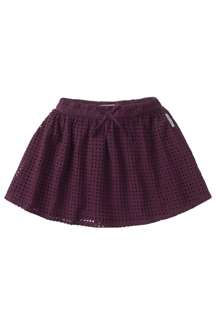 Sproet & Sprout Skirt Ajour Eggplant