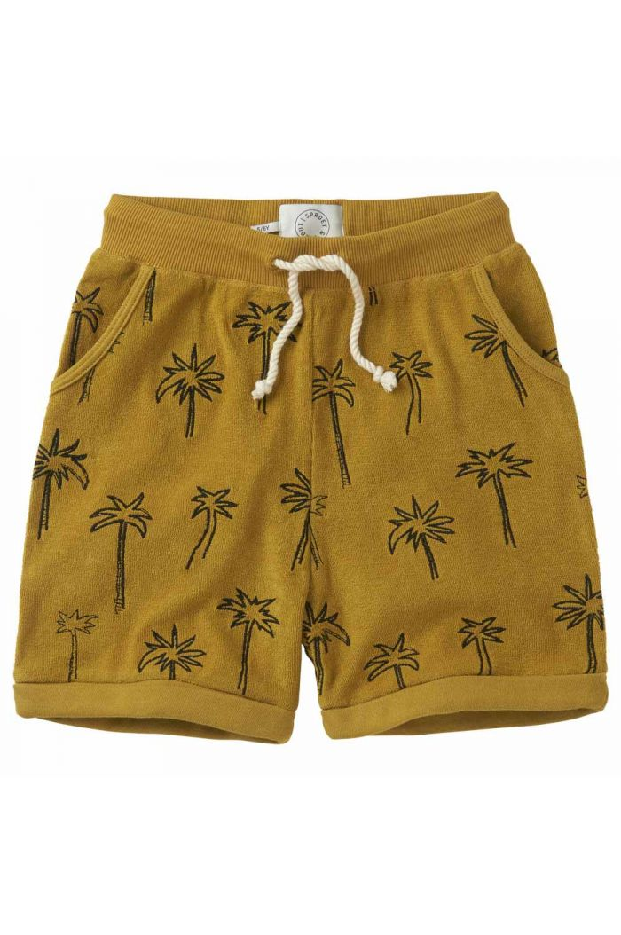 Sproet & Sprout Shorts terry Palm Tree Curcuma