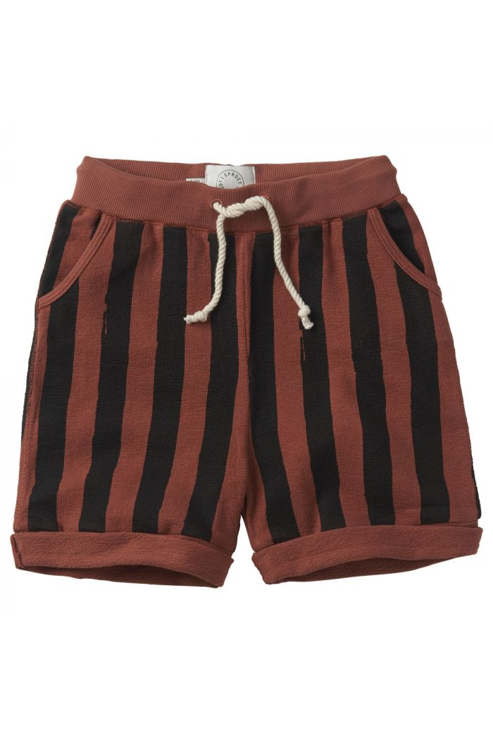 Sproet & Sprout Shorts Painted Stripe Mango