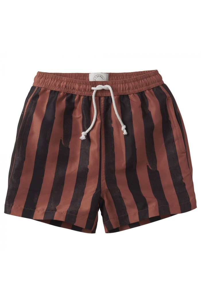 Sproet & Sprout Swim shorts Painted Stripe Mango