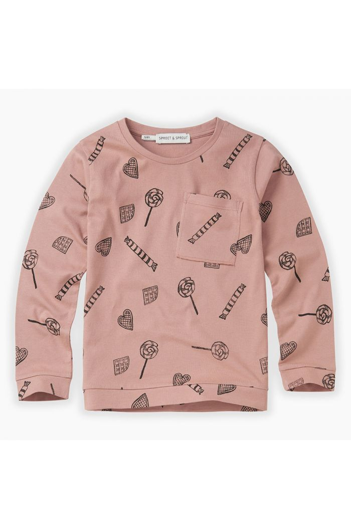 Sproet & Sprout T-shirt Candy All-over print Mauve_1