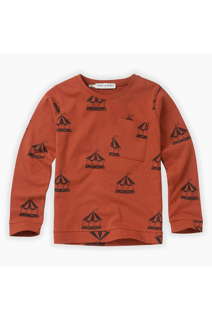 Sproet & Sprout T-shirt Carousel All-over print Copper Brown_1