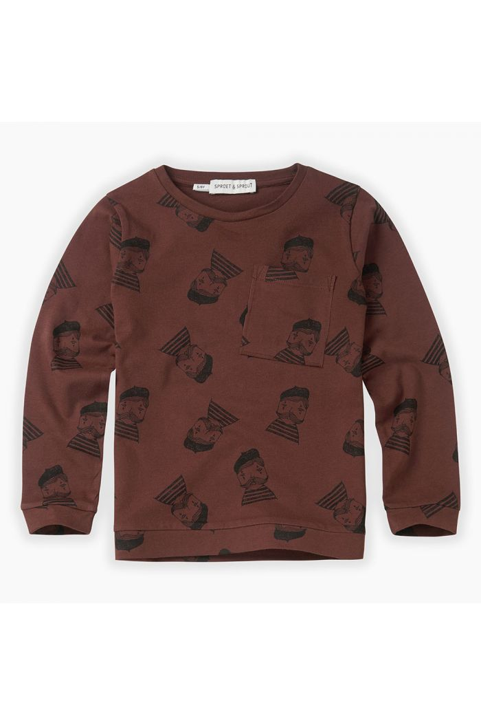 Sproet & Sprout T-shirt Pierrot All-over print Chocolate_1