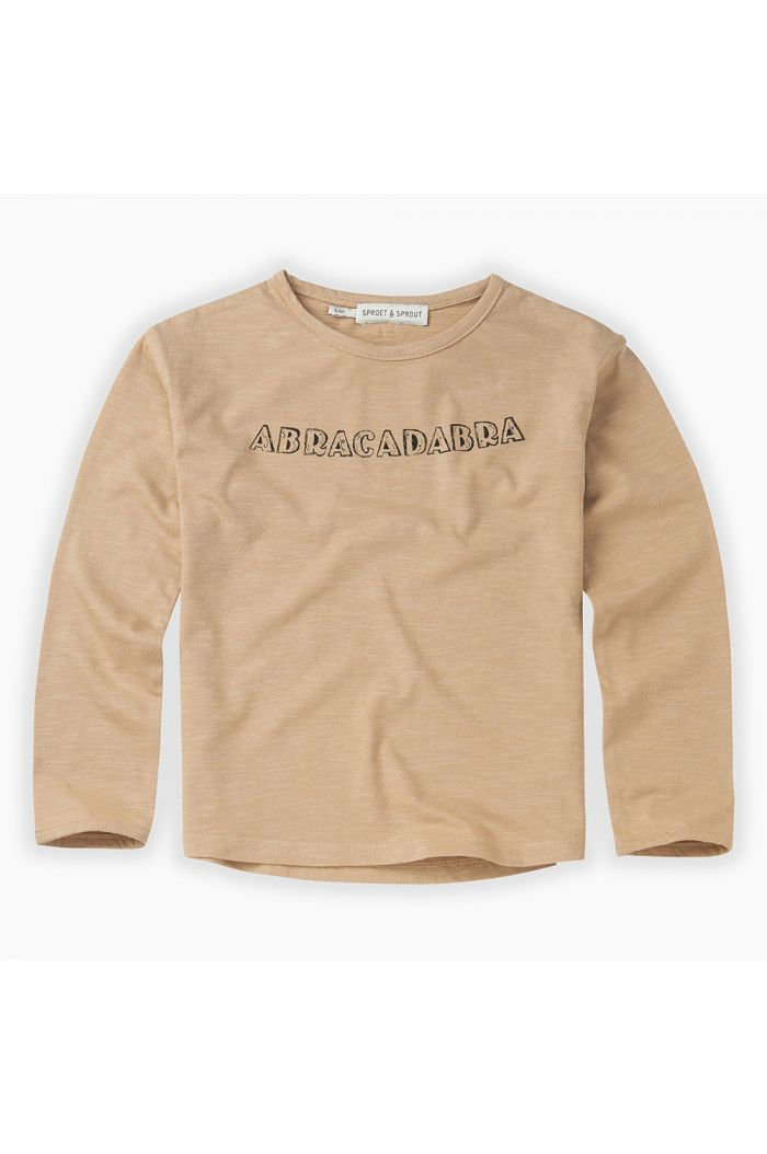 Sproet & Sprout T-shirt Abracadabra Text Nougat_1