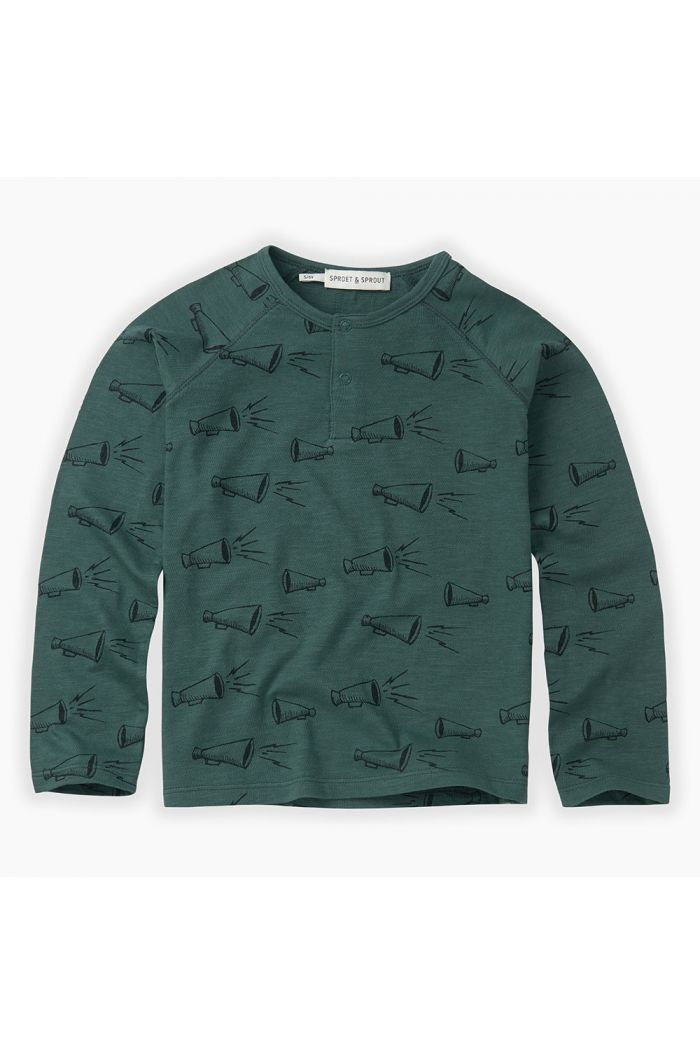 Sproet & Sprout T-shirt grandad Megaphone All-over print Dusty Green_1