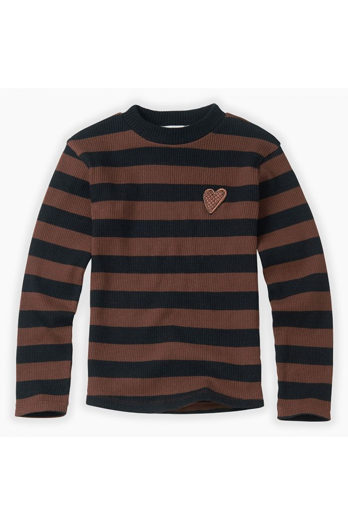 Sproet & Sprout T-shirt Turtleneck Stripe Chocolate_1