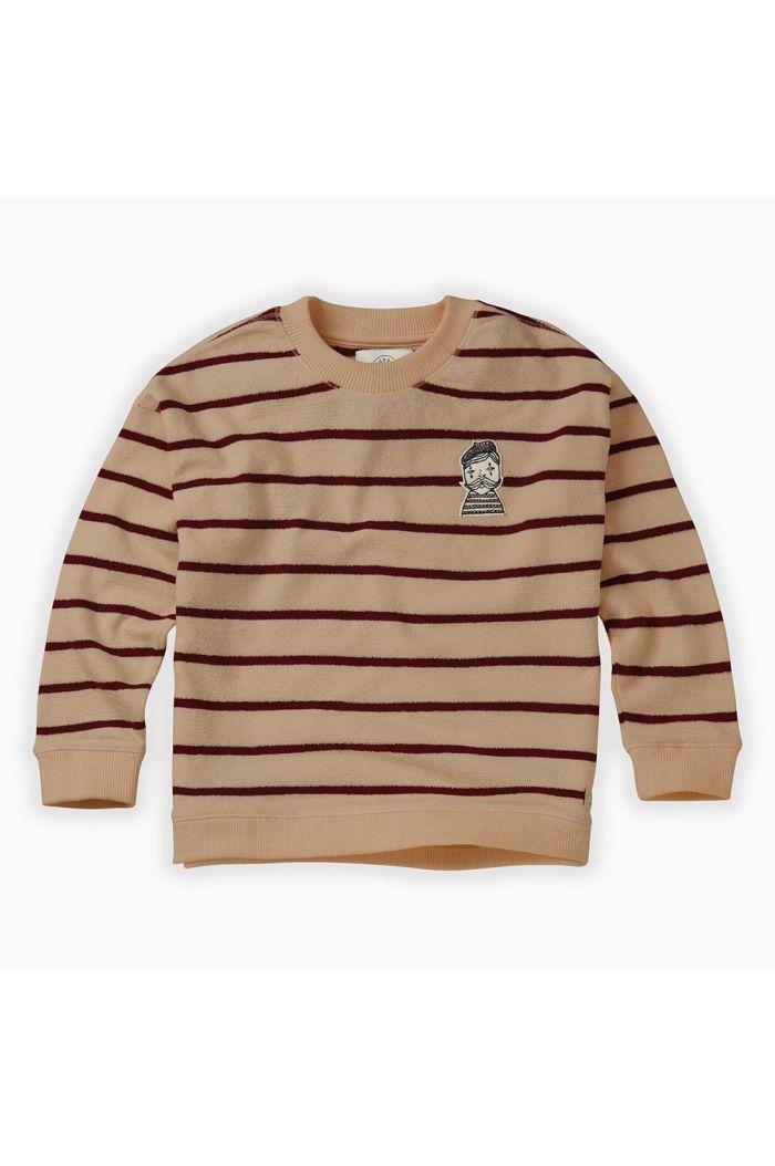 Sproet & Sprout Sweatshirt Loose Stripe Nougat_1
