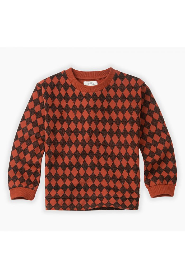 Sproet & Sprout Sweatshirt Diamond All-over print Copper Brown_1